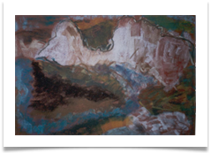 "Burling Gap :: Pastel on  Paper (Framed) :: 22"" x 18"" :: £ 315"