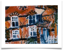 "House on Stanmore Common :: Oil on Canvas :: 30"" x 38"" :: SOLD"