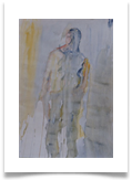 "Mysterious Figure :: 24"" x 20"" :: Watercolour on Paper :: £ 165"
