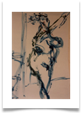"Nude Posing :: Oil on Paper :: 28""x22"" :: £ 340"