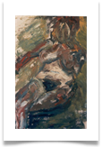 "Seated Nude Oil Slade :: Oil on Paper :: 28""x22"" :: £ 515"